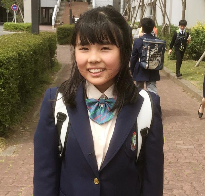 高居玲奈さん 中学1年生 ENC/GNAオンライン英会話歴8年